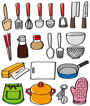 Assorted kitchenware