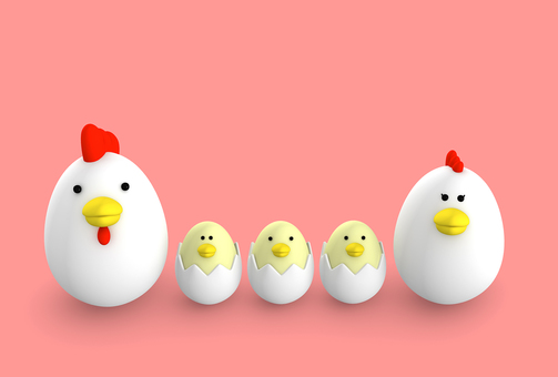 Tamago chicken family 3 people sibling 2