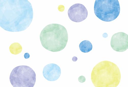 Summer / summer colored polka dots