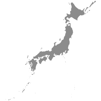 Japan Map_ Silhouette