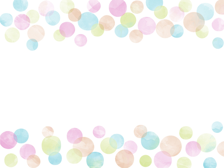 Various polka dots 001 watercolor breeze