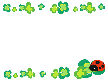 Ladybug and clover decorative frame