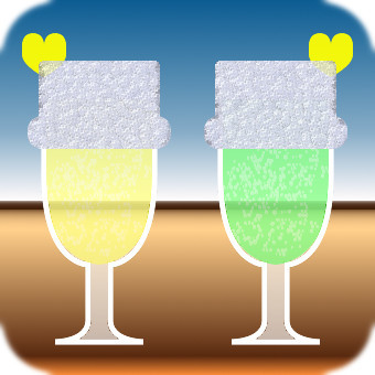 Pair drink (yellow × green)