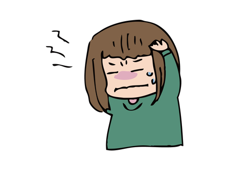 Girl suffering from headache