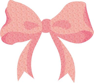 ピンク色リボンフレームりぼんアイコン飾り