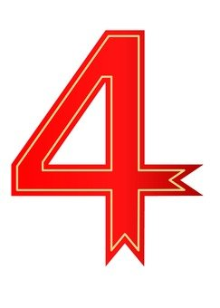 Number (4) Red ribbon