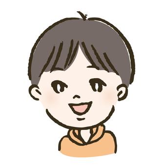 A boy in a parka
