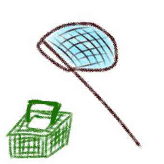 Insect repellent net and insect removal cage