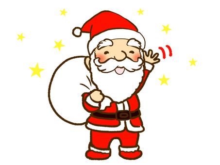 손 흔들기 산타