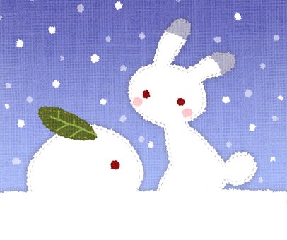 Usagi and Snow rabbit
