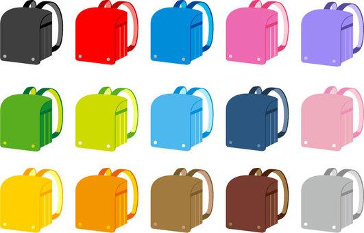 School bag color variation