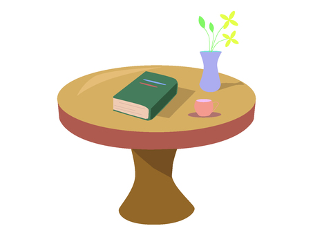 A life table with a book