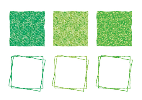 Green square frame