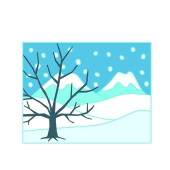 Snowy mountain icon 2