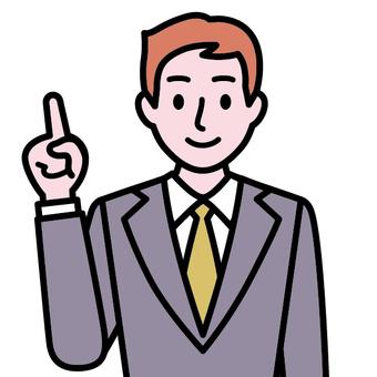 Men wearing suit-guiding suit (international)