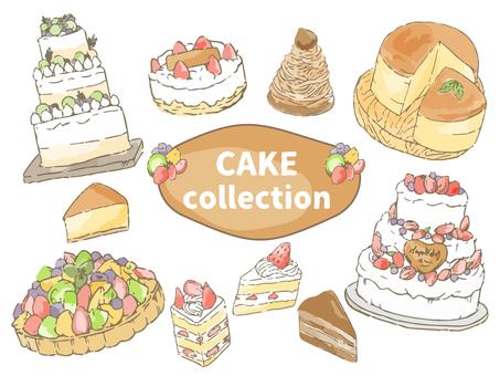 ケーキ盛りだくさん