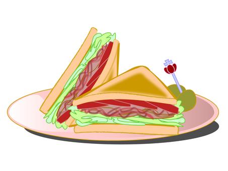 BLT三明治