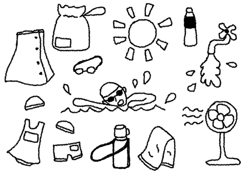 Illustration material of summer · pool