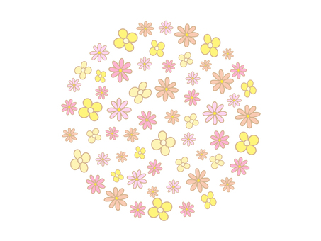 Hand-painted flowers Background material