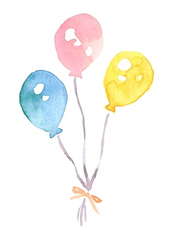 Pastel watercolor balloons