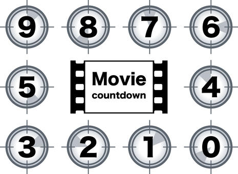 Movie Cinema Countdown Set