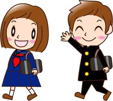 School attendance, men and women (students)