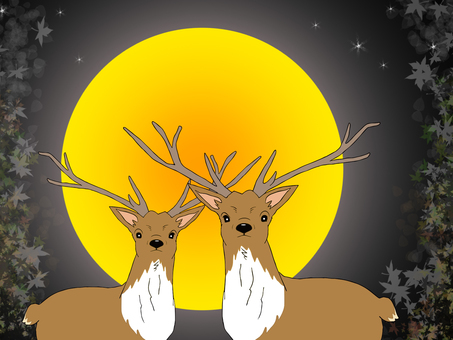 Reindeer and the Moon