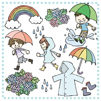 Children and rain