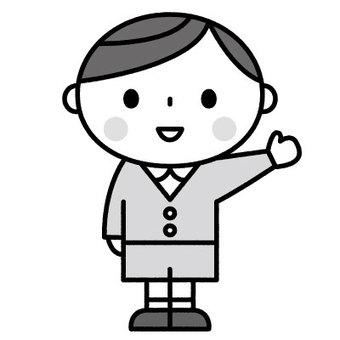 귀여운 소년 / 원아 / 보육 / 유치원