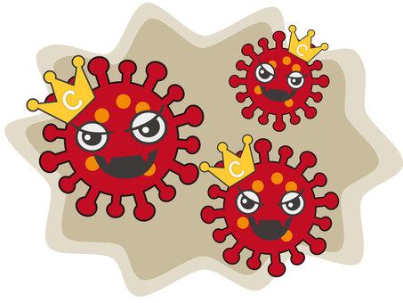 코로나 바이러스 (얼굴 있음) 3