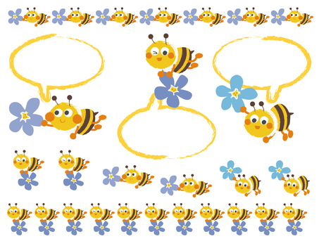 honeybee_ bees and flowers