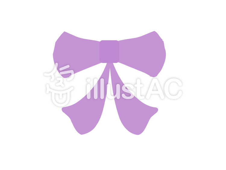 可愛い紫のリボンイラスト No 1067736無料イラストならイラストac