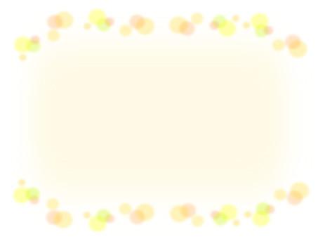 Polka dot pattern yellow frame material