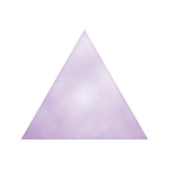 Hand drawn watercolor style triangle purple / purple