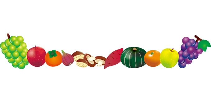 Autumn taste ~ fruit line