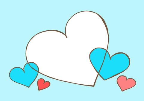 Heart 3 light blue