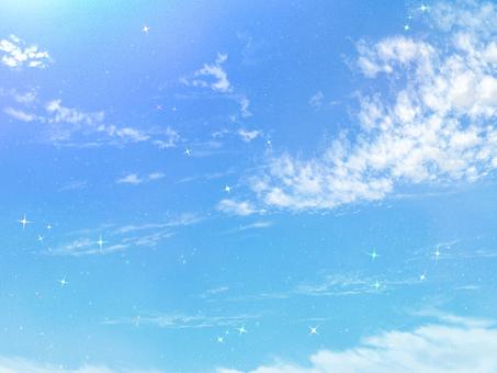 Girl cartoon-style sky (autumn)