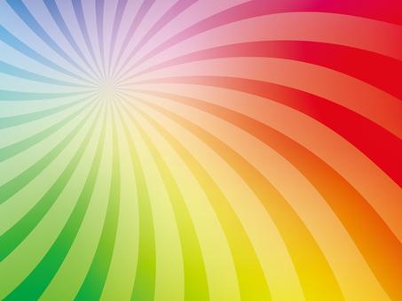 Rainbow colored swirl radiation background