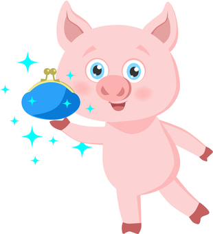 Pig with wallet