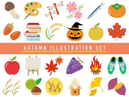 Autumn illustration set-01