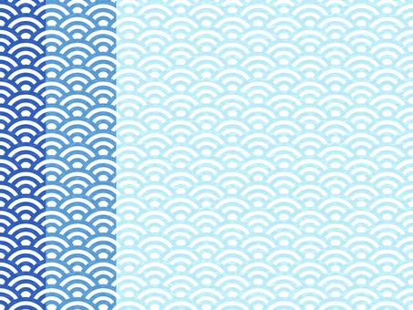일본식 디자인 원활한 패턴 집 칭하이 파 03 / 파랑