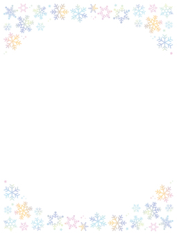 Snowflake watercolor frame 2 vertical