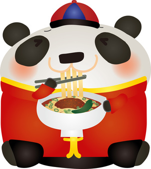 Chinese panda sushi noodle delicious