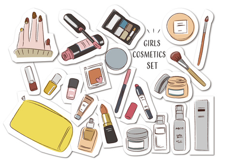 Cosmetics cosmetic girl makeup sticker style