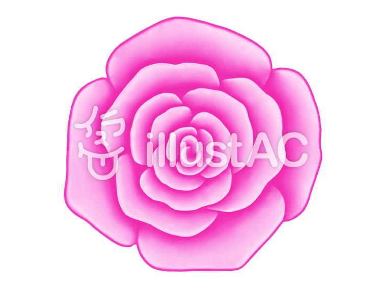 バラの花のワンポイントイラスト背景素材イラスト No 998337無料