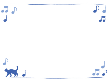 Handwritten wind frame on-cup and cat