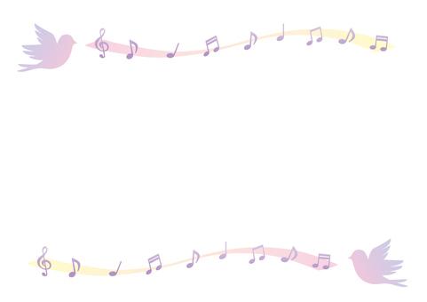 Tweet bird's frame (pink)