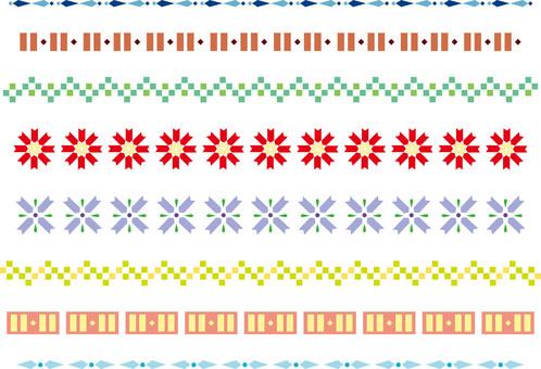 シンプルな飾り罫10 カラー
