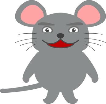 笑顔のネズミ