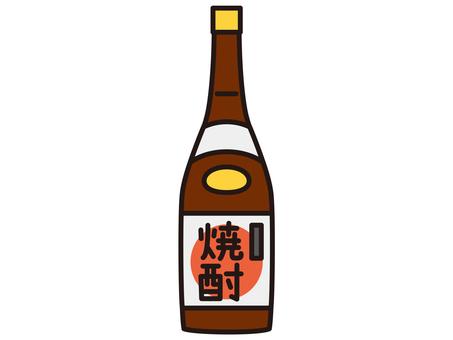 One shochu bottle
